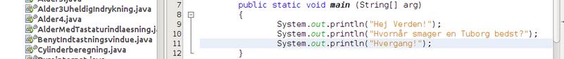 Java kode af Kvindelig speaker